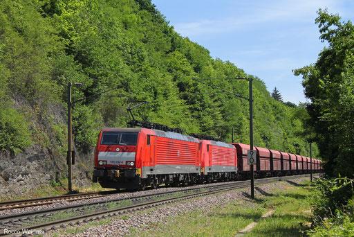 DT 189 032 + 189 ... mit GM 48719 Maasvlakte Oost - Dillingen Hochofen Hütte, Völklingen 31.05.2017