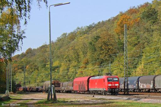 145 002 mit EK 55453 Völklingen Walzwerk - Saarbrücken Rbf Nord, Luisenthal(Saar) 16.10.2017