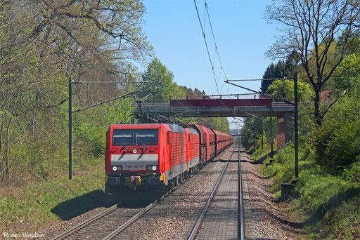 DT 189 041 + 189 ... mit GM 62362 Biebesheim - Dillingen Hochofen Hütte (Sdl. Erz), Homburg(Saar) 10.05.2017