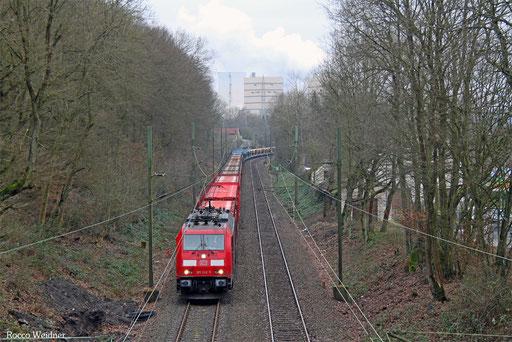 185 242 mit GA 98845 Fürstenhausen - Dillingen Ford (Sdl.), 08.01.2018
