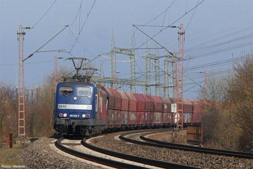 DT 151 123 + 151 014 mit GM 98205 Ensdorf(Saar) - Fürstenhausen (Sdl.Kohle, ex. 48745), Ensdorf 09.03.2016