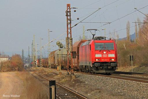 185 219 mit EZ 51422 Gremberg Gsf - Saarbrücken Rbf Nord, Ensdorf(Saar) 26.01.2016