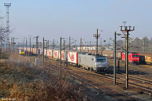 BB37004 mit DGS 42233 Bettembourg-Marchandises - Saarbrücken Rbf Nord (Sdl., Umleiter), Forbach (Moselle) 18.02.2018