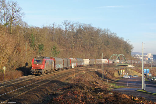 BB37013 mit DGS 47214 Worms Gbf - Forbach/F, Saarbrücken 25.01.2016