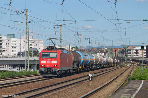 185 028 mit EK 55724 Mannheim Rbf Gr.G - Ludwigshafen/Rh BASF Gbf, Ludwigshafen 26.06.2017