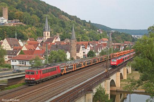 155 091 mit GA 62222 Ingolstadt Hbf - Fulda Gbf (Sdl. leere Lae zur Abstellung)