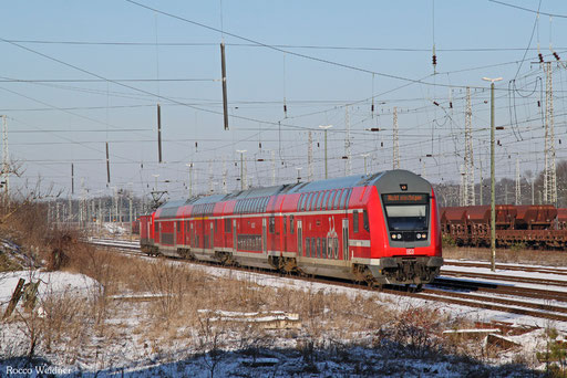 112 115 mit RE 3307 Stralsund Hbf - Falkenberg(Elster), 22.01.2017
