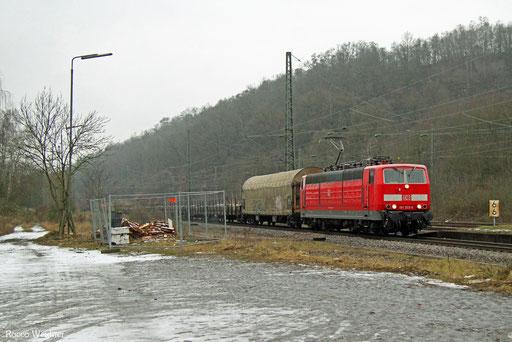 181 205 mit EK 55453 Völklingen Walzwerk - Saarbrücken Rbf Nord, Luisenthal(Saar) 07.01.2017