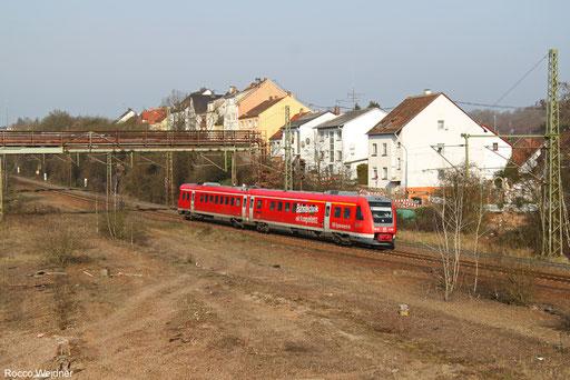 612 901 als Mess ST 92992 Saarbrücken Hbf - Kirn (Sdl. Prüffahrt mit aktiver Neigetechnik),   Neunkirchen Sinnerthal 01.03.2016