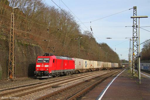 185 039 mit KT 42274 Ludwigshafen/Rhein BASF Ubf - Le Havre/F, Saarbrücken 10.01.2018