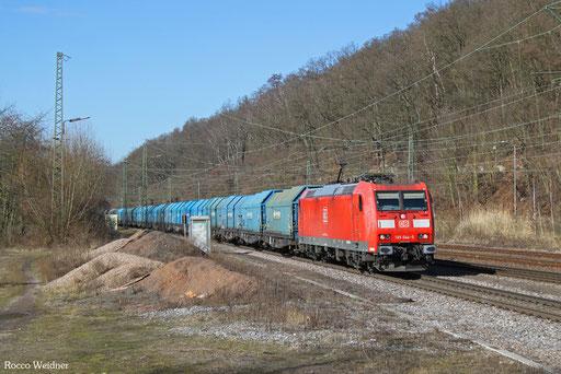 185 044 mit GM 44420 (Wroblin Glogowski/PL) Cottbus - Forbach/F (Lens) (Sdl. Kupfer), Luisenthal(Saar) 26.02.2017
