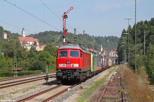 DB Cargo 232 709 und BLS Cargo 485 013 und Hectorrail 151 133 mit DGS 43565 Krefeld-Uerdingen - Mortara/I