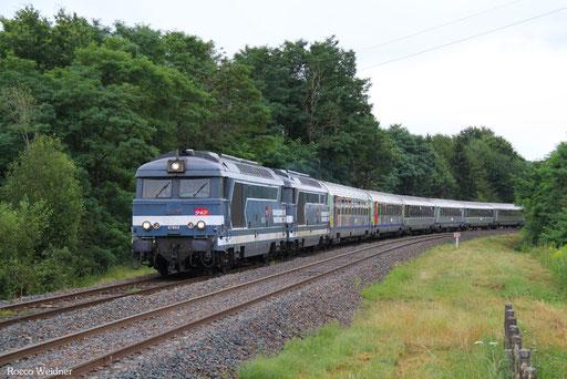 DT BB67603 + BB67519 mit 754782 Strasbourg Ville - Béning (Sdl. Überführung Corail-Wagen),  04.08.2016
