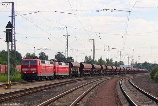 DT 181 213 + 181 205 mit GB 62376 Homburg(Saar) - Neunkirchen(Saar) Hbf (Sdl. Schotter Fc/Fac), 14.07.2017