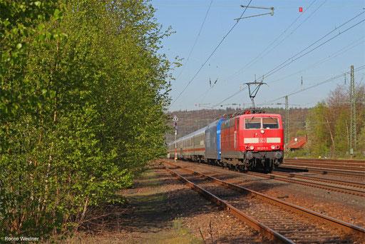 181 215 (101 144) mit IC 2059 Saarbrücken Hbf - Stuttgrart Hbf, St.Ingbert 20.04.2018