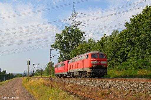 225 073 (151 077) als T 67918 Dillingen(Saar) - Saarbrücken Hbf (Sdl.), Ensdorf 08.07.2016