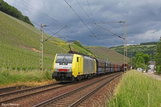 189 206 mit DGS 69267 Neunkirchen(Saar) Hbf - Düsseldorf-Bilk (Sdl.), Kanzem 13.06.2013,