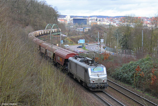 BB37032 mit DGS 95435 Mannheim-Käfertal - Forbach/FR (Sdl.), Saarbrücken 01.02.2018