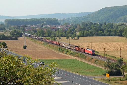 152 154 mit EZ 51712 Nürnberg Rbf Ausfahrt - Mannheim Rbf Gr.M