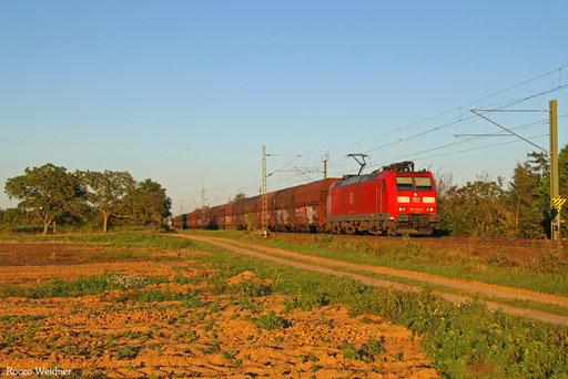 185 145 mit GM 62643 Karlsruhe Rheinbrücke Raffinerie - Dillingen Hochofen Hütte (Sdl. Petrolkoks), Haßloch 25.08.2016