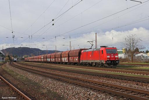 185 230 mit GM 60406 Dillingen Hochofen Hütte - Karlsruhe Rheinbrücke Raffenerien, Saarlouis 16.01.2018