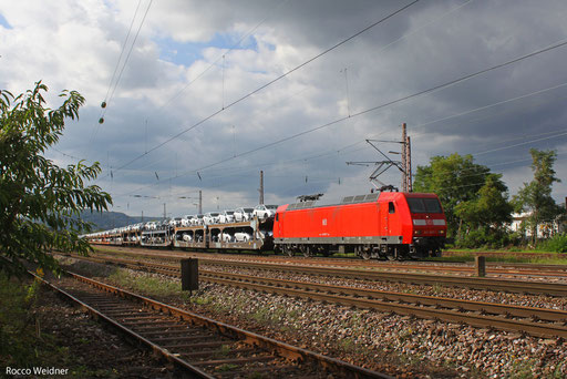 145 007 mit GA 46333 Dillingen DB/Ford - Basel Bad Rbf A (Carimate/I) (Sdl. PKW), Saarlouis 20.09.2013