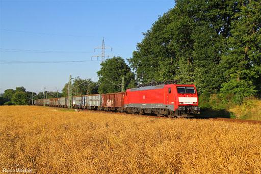 189 080 mit EZ 55994 Homburg(Saar) Hbf - Ehrang Nord, Kirkel 19.07.2016