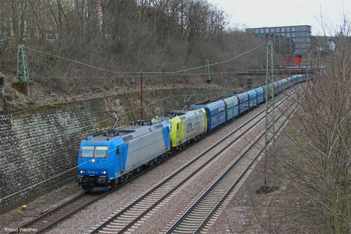 DT 185 519 + 185 534 mit DGS 42498 Czerwieńsk/PL - Dillingen Hochofen Hütte (Sdl.), Saarbrücken 30.03.2018
