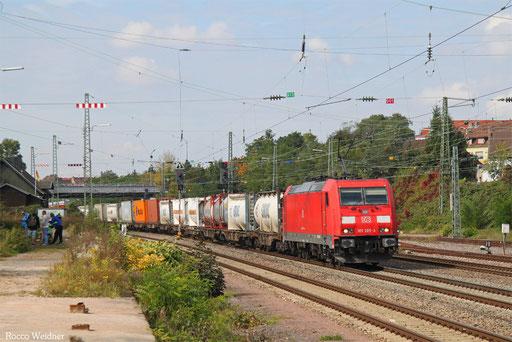 185 285 mit KT 49588 (Antwerpen-Noord/NL) Aachen West Pbf - Forbach/F (Gallerate/I) (Sdl. KV, Hupac-verkehr, Rastatt Umleiter), Burbach 26.09.2017