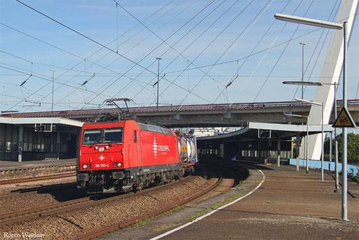 185 595 mit DGS 48080 Basel Bad Bf/CH - Aachen-Gemmenich, Ludwigshafen 26.06.2017