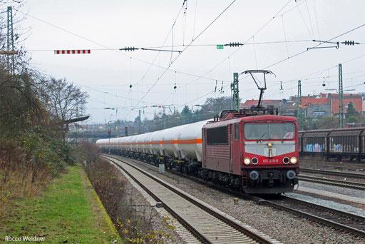155 219 mit XP 49248 Hüls AG - Forbach/F (Creutzwald), Saarbrücken-Burbach 12.12.13