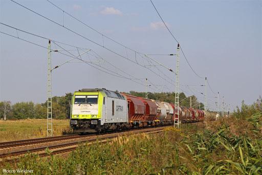 """285 111 mit """"Quarzsandzug"""" Hosena - Torgau, Kölsa 14.09.2016"""
