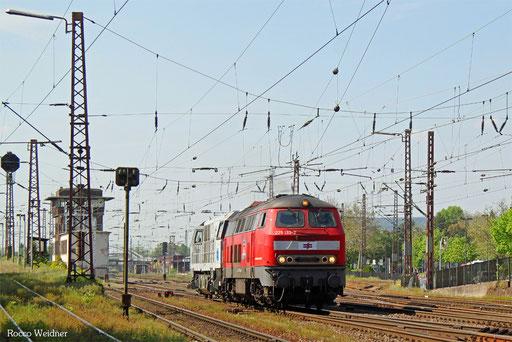 225 133 als Tfzf(D) 94163 Aachen-Rothe Erde Pbf - Saarbrücken Rbf Nord (Sdl. Überführung ECR G2000), Dillingen(Saar) 09.05.2016