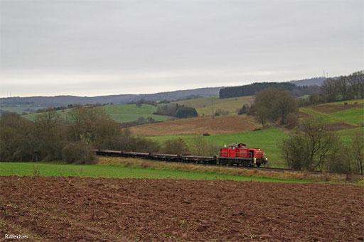 Das Wetter wurde auch immer schlechter, aber die Leerwagenrückführung nach Neunkirchen sollte noch abgewartet werden, M 62512 zwischen Führt und Steinbach.