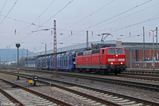 181 205 mit GA 62386 Dillingen Ford - Dillingen(Saar) (Sdl. PKW, Drehfahrt), Saarlouis 10.02.2017