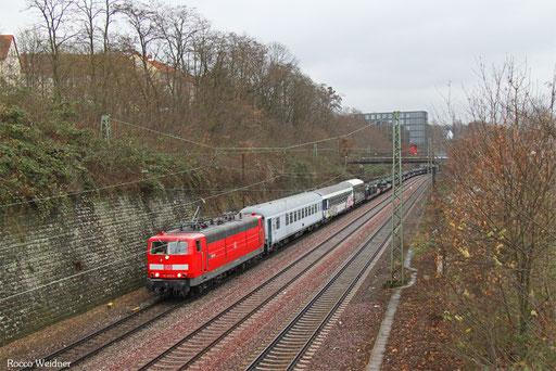 181 213 mit M 44430 Bergen Lager - Forbach/F (Sdl. Militär mit Lü), Saarbrücken 11.12.2016