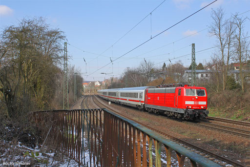 181 211  mit IC 2055 Saarbrücken Hbf - Stuttgart Hbf, 15.03.2013