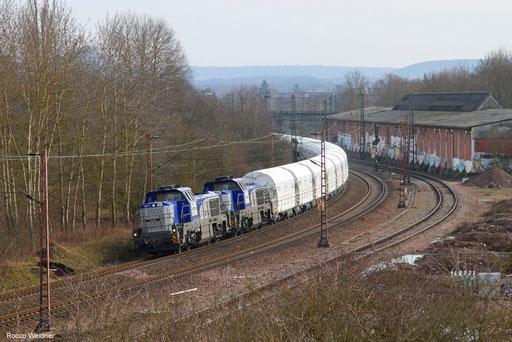 DT 4185 005 + 4185 008 mit DGS 48245 Dugny-sur-Meuse/FR - Dillingen Hochofen Hütte, Ensdorf (Saar)  20.02.2018
