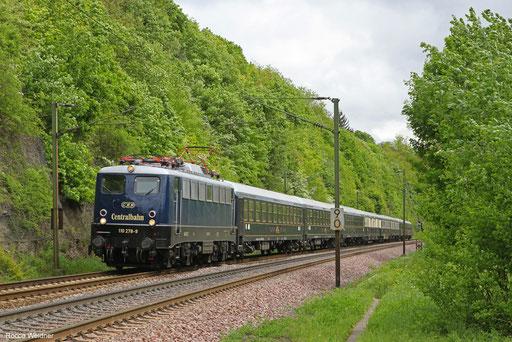 110 278 mit DPF 20117 Stuttgart Hbf - Ehrang Ost (Sdl.), Völklingen 30.04.2018