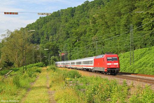 101 139 mit IC 2059 Saarbrücken Hbf - Stuttgart Hbf, Scheidt(Saar) 11.07.2016