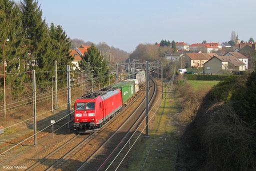 185 036 mit KT 42274 Ludwigshafen (Rhein) BASF Ubf - Le Havre/FR, Forbach (Moselle)  07.02.2018