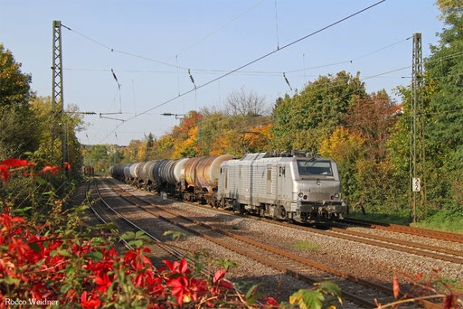 BB37054 mit DGS 59739 Ehrang Nord - Karlsruhe West (Sdl.), Saarbrücken 16.10.2017