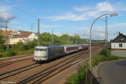 103 222 mit DbZ 93838 Westerstetten - Trier Hbf (Sdl.), Saarbrücken-Burbach 03.08.2017