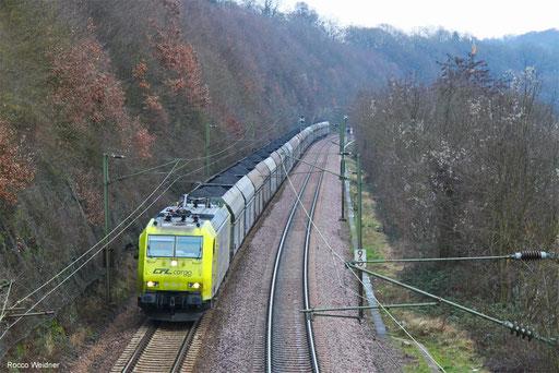 185 534 mit DGS 42380 Děčín/CZ - Dillingen Hochofen Hütte (Sdl.), Völklingen 05.02.2018