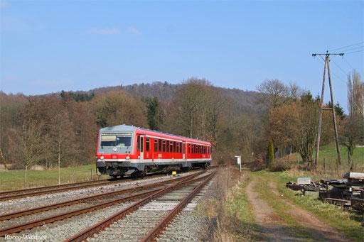 628 480 als RB 12219 Saarbrücken Hbf - Lebach-Jabach, Eppelborn 12.03.2016