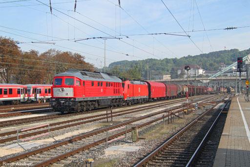 232 201 (185 140) mit EZ 46133 Unterfahlheim - Zürich Limmattal RB/CH (Chiasso Smistamento/I) (Sdl. Frachten, Rastatt Umleiter), Ulm Hbf 04.09.2017