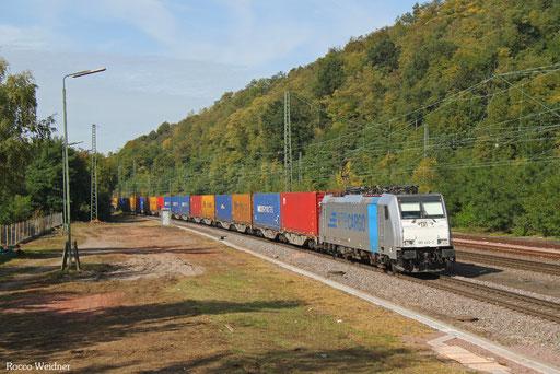 186 425 mit DGS 44785 Rotterdam-Europoort/NL - Saarbrücken Rbf (Novara Boschetto/I)  (Sdl., Rastatt-Umleiter), Luisenthal(Saar)  29.09.2017