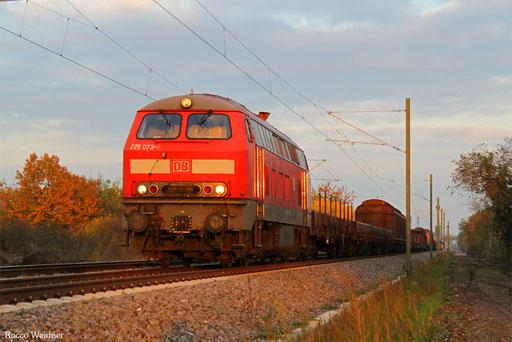 225 073 mit EZ 51918 Mannheim Rbf Gr.G - Saarbrücken Rbf Nord, Haßloch 26.10.2016