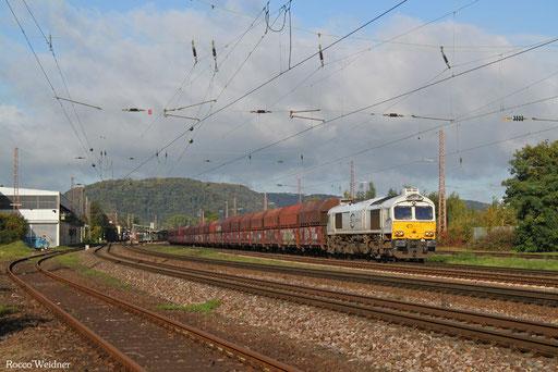 77 028 mit GM 60406 Dillingen Hochofen Hütte - Karlsruhe Rheinbrücke Raffinerie, Saarlouis 03.10.2017