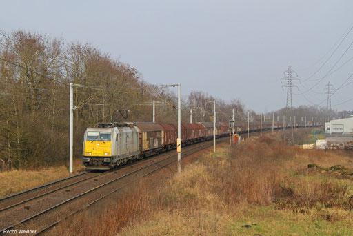 186 307 mit EZ 44220 Mannheim Rbf Gr.G - Vaires-Torcy, Morsbach (Moselle)  07.02.2018